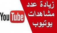 4500 مشاهدة لليوتيوب حقيقيين 100% مع ضمان ممتاز حقيقي للنقص