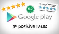 جلب 50 تقييمات لتطبيقك Reviews for Google Play