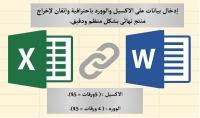 إدخال بيانات على  Excel amp; Word بحترافية وإتقان ...
