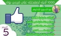 1.000 لايك عربي حقيقي 100% لصفحتك علي الفيس بوك
