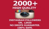إضافة 2000 متابع سريع على حسابك Instagram حقيقي في أقل من ساعة بجودة عالية مع الضمان