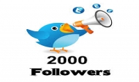 إضافة 2000 متابع عربي و أجنبي متفاعلين لحسابك علي تويتر