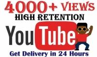 3000 مشاهدة يوتيوب سريعة ب5$ فقط