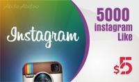 اضافة 5000 لايكات لصورك في انستجرام ب5$