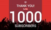 1000مشترك على قناتك على اليوتيوب   هدية لاول 10 اشخاص يقومون بشراء الخدمة