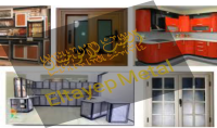 تصميم و تصنيع وصيانة جميع أعمال الألوميتال أبواب شبابيك مطابخ