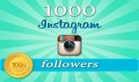 1000 متابع على حسابك في الانستغرام