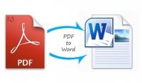 تفريغ ملفات PDF والاسكانر الى WORD مقابل عدد 15 صفحة مقابل 5$