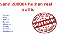20000 ترافيك لموقعك حقيقين من جميع انحاء العالم امن لادسنس
