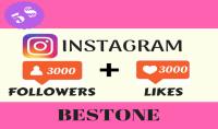 3000 متابع في حسابك انستغرام حقيقي ومتفاعل 100% زائد 3000 لايك مجانا