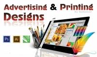 تصاميم طباعية وإعلانية