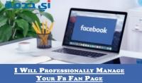 ادارة صفحتك على الفاسبوك باحترافية مع تعديلها بالكامل لمدة 20 يوم او اكتر