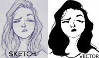 تحويل اي رسمة علي الورق الي رسمة علي الكمبيوتر بجودة عالية