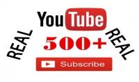 500 مشترك حقيقي علي قناتك يوتيوب بسعر 5 دولار في وقت سريع