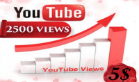 احصل على 2500 مشاهدة يوتيوب بمقابل 5 دولار فقط