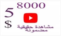 8000 مشاهدة عالية الجودة لليوتيوب 5$ فقط
