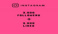 اضافة 3000 متابع   3000 لايك للأنستغرام امكانية تقسيمهم لأكثر من صورة
