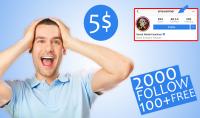 2000 متابع حقيقي لحسابك على انستغرام مع هدية 100 متابع مجانا
