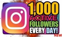 إضافة 1000 متابع لحسابك على الانستجرام حقيقي ومتفاعل بشكل سريع