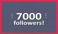 7000 متابع على الانستغرام