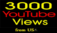 3000 مشاهدة حقيقية لفيديوهاتك على اليوتيوب من USA