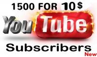 إحصل على 1500 مشترك باليوتيوب حقيقي مع ضمان بقائهم