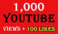 1000 زيارة آمنة في اليوتيب   100 لايك للمقطع الخاص بك