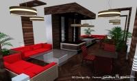 تصميم مقاهي ومطاعم 3D