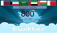 800 متابع حقيقي و متفاعل على التويتر في يومين فقط