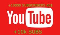 احصل على 10000 مشترك على يوتيوب ب 40$ فقط
