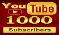 جلب لك 500 1000 مشترك حقيقين ودائمين لقناتك فاليوتوب في مدة لاتتجاوز 3ايام