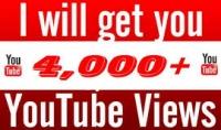 000 4000 مشاهدة حقيقية للفيديو الخاص بك على يوتيوب