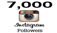 have 7000 real followers for instagram