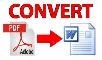 تحويل صفحات وملفاتpdf إلي ملفات word