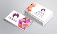 تصميم بطاقة أعمال احترافية باللغة العربية وجهين
