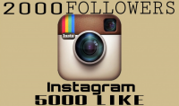 2000 متابع حقيقي 5000 لايك هدية