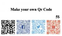 انشئ لك Qr Code خاص بك قابل للمسح يتضمن سيرتك الذاتية او مواقعك للتواصل الاجتماعي و الكثير من الخيارات