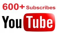 600 مشترك حقيقي على اليوتيوب