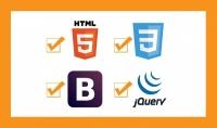 سوف اصمم موقعك ب html5  css3  bootstrap4 js  jquery  SASS  ANgualr6