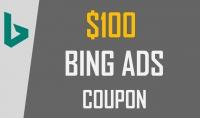 كوبون بينج ادس bing ads بقيمة 100$