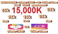 اضافة 15000 الف لايك سريع جدا الى صورة او عدة صور و10000 مشاهدة لحسابك هدية