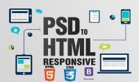 تحويل اي psd خاص بك الي الى صفحة ويب متجاوبة {HTML 5  CSS 3  bootstrap}