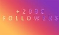 2000 متابع حقيقي لحسابك على الاستقرام