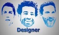 تصميم شعار بصورتك لوجو جلاكسي galaxy face logo  باحتراف بـ5$