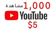 1000 مشاهدة لليوتيوب حقيقية مقابل 5$