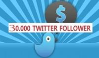 عرض تسويقي: أكثر من 30.000 متابع لحساب تويتر