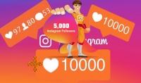 احصل على 5000 مشترك حقيقي مع هدية 10000 لايك أو مشاهدة لمنشوراتك فقط ب $5