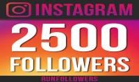 2500 متابع انستغرام