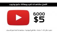 6000 مشاهدة حقيقية للفيديو الخاص بك على يوتيوب