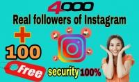 إضافة 4000 آلاف متابع حقيقي لحسابك  100 متابع مجانا